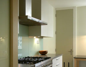 Non fading and Non staining Glass splashbacks