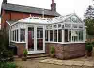 Glass and Brick Conservatory