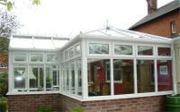 Looking at conservatory from outside