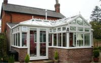 Conservatory at the back of a house