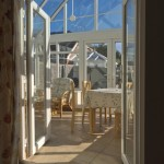 dining room in the conservatory