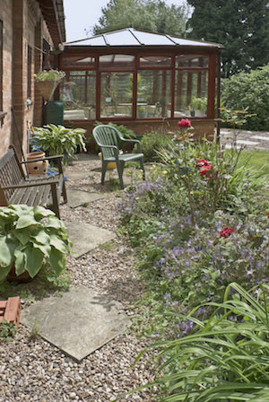conservatory in a beautiful garden