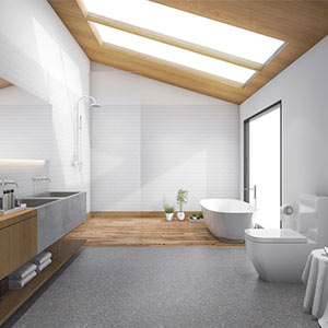 Self cleaning glass skylight